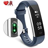 Motenik Fitness Tracker, Activity Tracker with Heart Rate Monitor Fitness Wristband Touch Screen Fitness Watch Bluetooth Pedometer Sleep Monitor for Men Women and Kids Compatible with Android&iOS