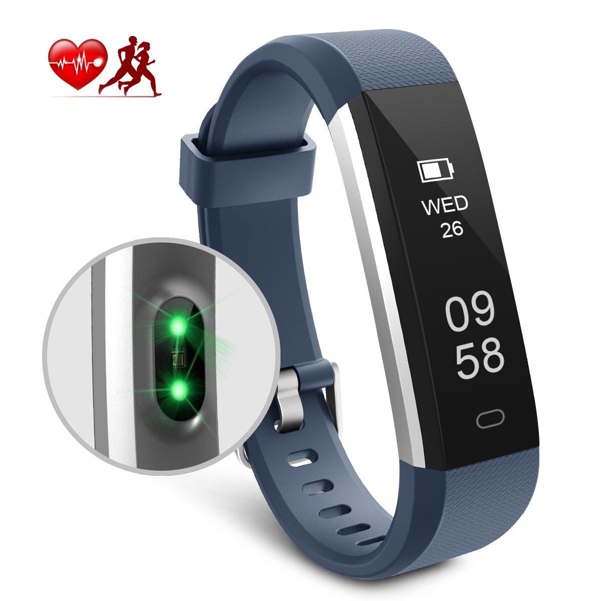 Motenik Fitness Tracker, Schlank Aktivitäts Tracker mit Herzfrequenzmesser