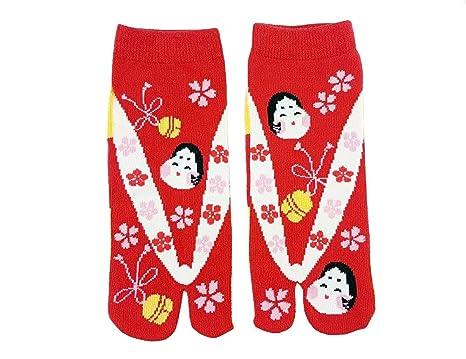 Tabi calcetines Azaleas japonés Split 2 par Toe Ninja Geta ...