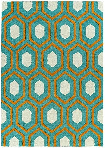 Kaleen Rugs Spaces Collection SPA03-91 Teal Hand Tufted Rug