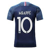 Silver Basic T-Shirt de Sport Garçon Champion Coupe du Monde 2018 France 2 étoiles Maillot de Footall