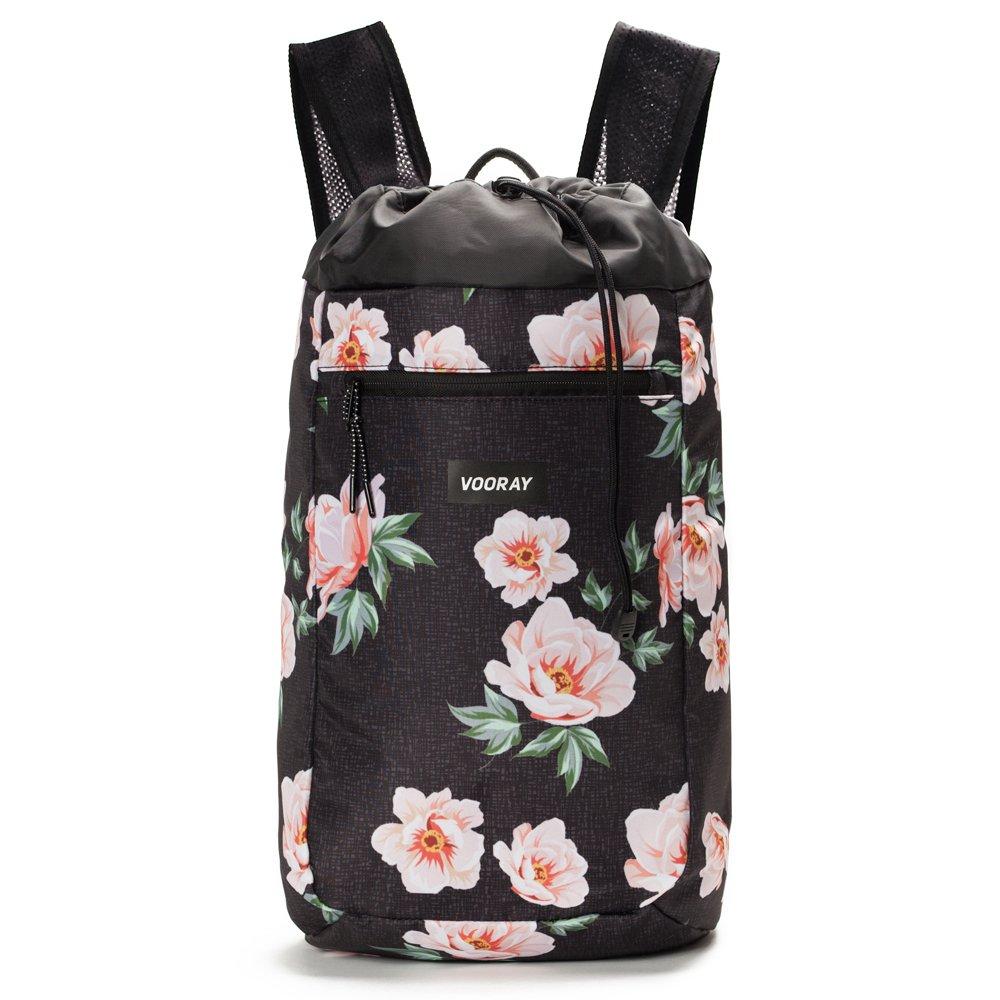 Vooray Stride Drawstring Cinch Backpack (Tropic Stripe)