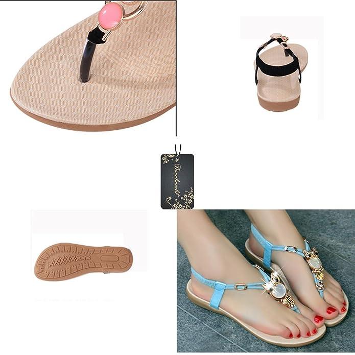 Donalworld Girl Owl Summer Sandals Bead Flat T-strap Shoes Black:  Amazon.ca: Shoes & Handbags