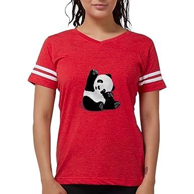 205d54d77 Amazon.com: CafePress - Baby Panda - Womens Football Shirt: Clothing