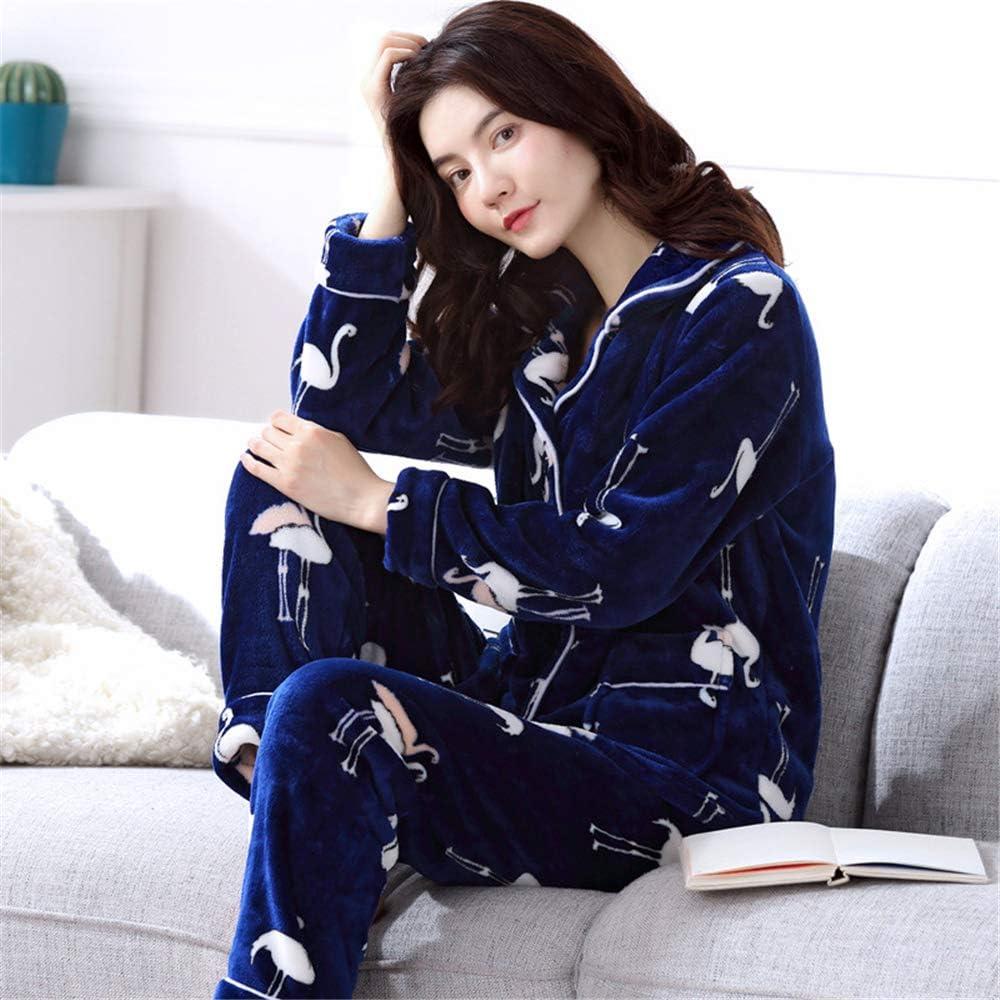 DUJUN Pijama Suave para Mujer, Albornoces Gruesos de Lana de Coral ...