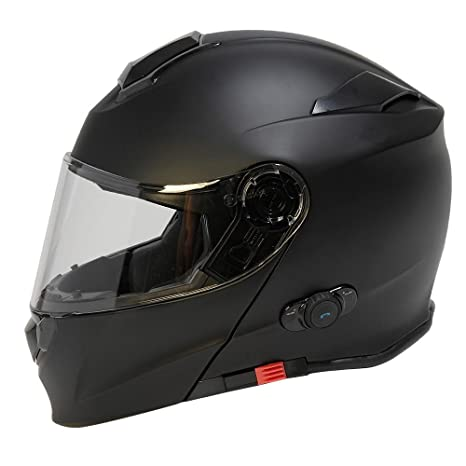 Amazon.com: TORC Unisex-Adult Full-face Style T28B Bluetooth Integrated Motorcycle Helmet with Graphic (Matte Black, X-Large): Automotive