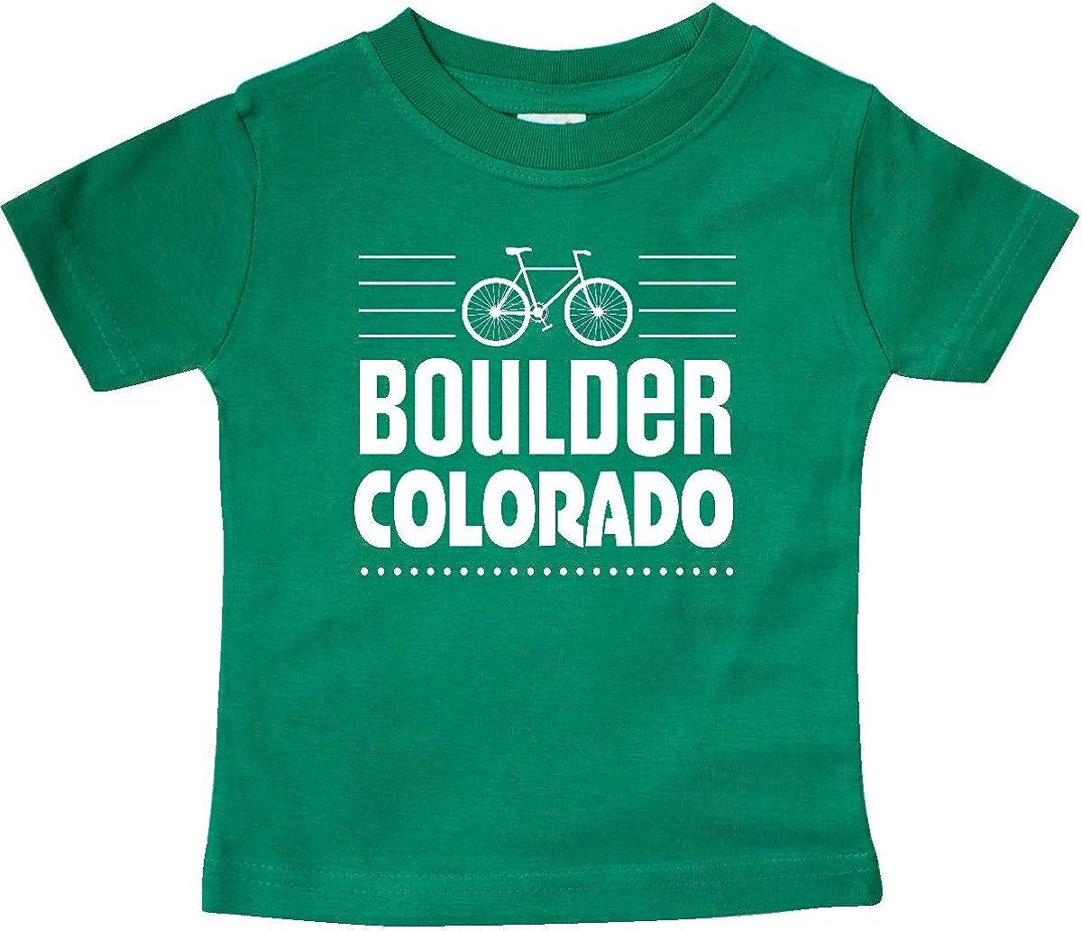 inktastic Boulder Colorado Biking Baby T-Shirt