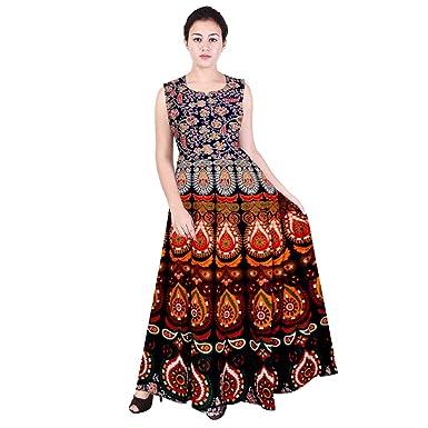 Silver Organisation Women s Cotton Knee-High Sleeveless Midi Dress (Free  Size bd473e5f8