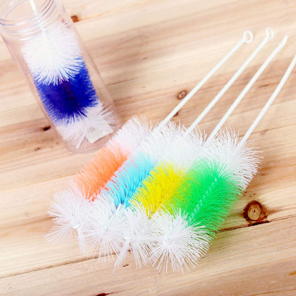 Home Kitchen Long Handle Brush For Wineglass Bottle Coffe Tea Glass Cup Bottle Cup Glass Washing Cleaning Cleaner Tool (30 * 6 * 1, random)