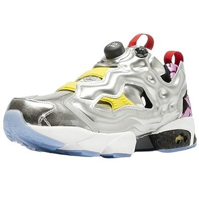 01f0c38b Reebok AR1445 Men Instapump Fury OG VP Sneakers SILV MET Black Yellow
