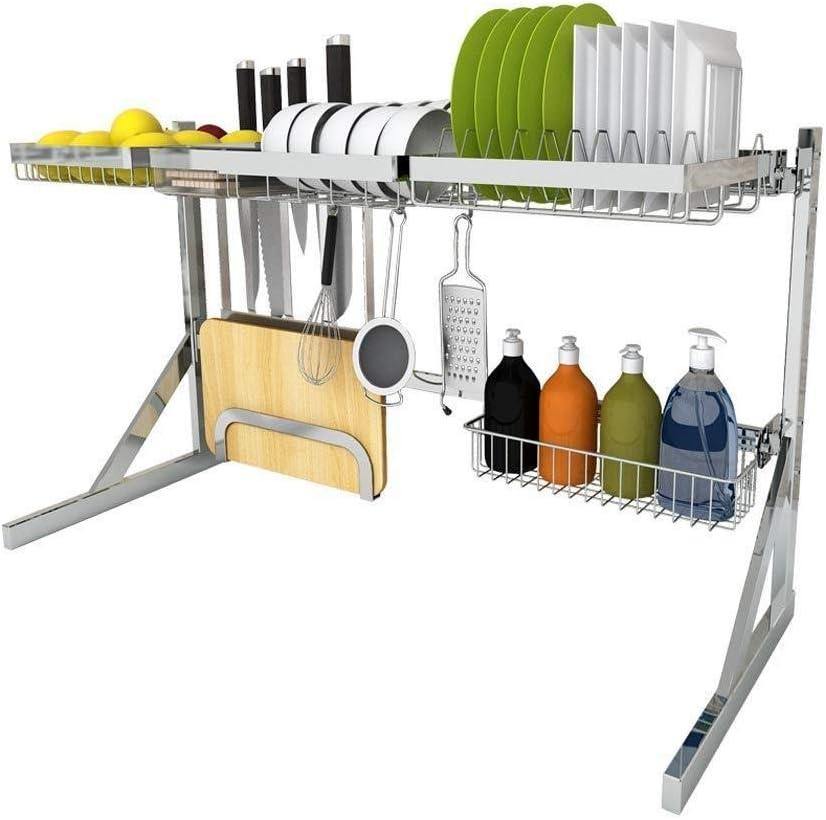 ストレージラック304ステンレス鋼のシンクラックドレンラックキッチンラック用品皿を置く食器類収納ラック