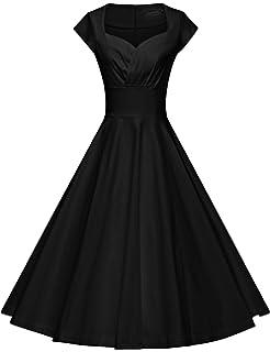 Grace Karin Boatneck Sleeveless Vintage Tea Dress Belt At Amazon