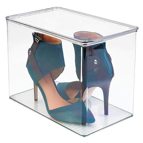 mDesign - Caja organizadora para almacenamiento de calzado en el armario; organiza tacos altos,