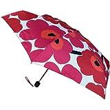 marimekko (マリメッコ) 折りたたみ傘 ホワイト レッド 16.5x5x5cm