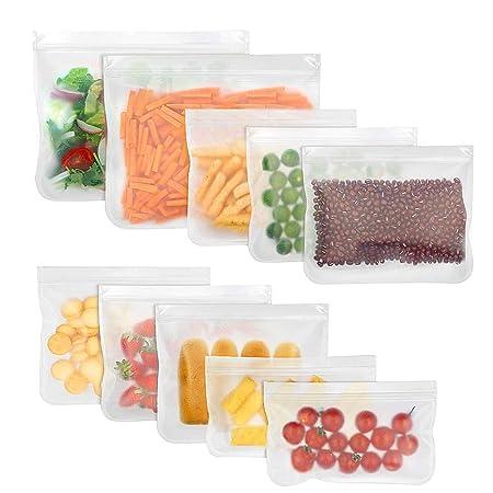 Bolsas de almacenamiento reutilizables - libre de BPA PEVA bolsas ...