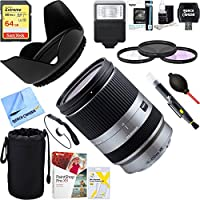 Beach Camera Tamron (AFB011S-700) 18-200mm Di III VC Silver for Sony Mirrorless SLR Camera Series + 64GB Ultimate Filter & Flash Photography Bundle