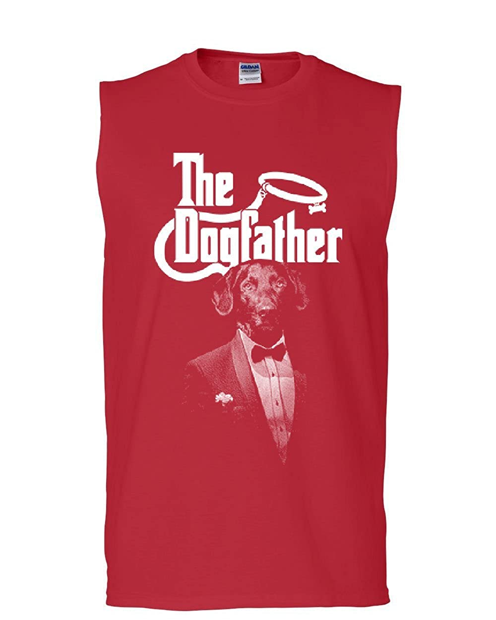 Tee Hunt The Dogfather Funny Muscle Shirt Parody Dog Lovers Pet Best