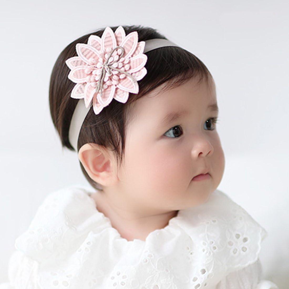 JMITHA 3 St/ück Baby Stirnb/änder Baby M/ädchen Kids Turban Haarband Stirnband Kopfband Baby schmuck Babyschmuck Babygeschenke /& Taufe