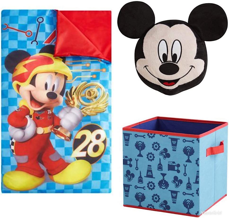Amazon Com Mickey Mouse Kids Disney 3pc Sleeping Bag And Pillow