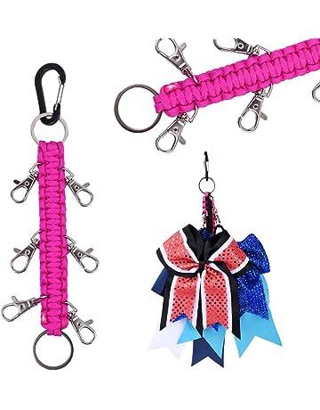 b3c0a9c67205 DEEKA Paracord Handmade Cheer Bows Holder for Cheerleading Teen Girls High  School College Sports