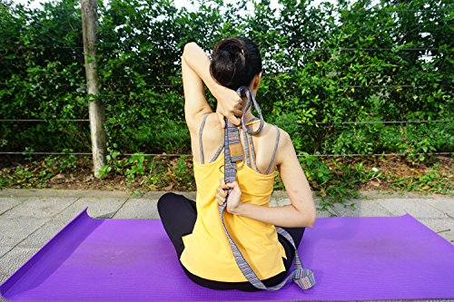 Ziloda Unique 8ft D-Ring Buckle Yoga Strap - Durable - For Stretching and Flexibility - Especially Suitable for Yoga/ Pilates Beginners - 100% Refund Guarantee(No.4)