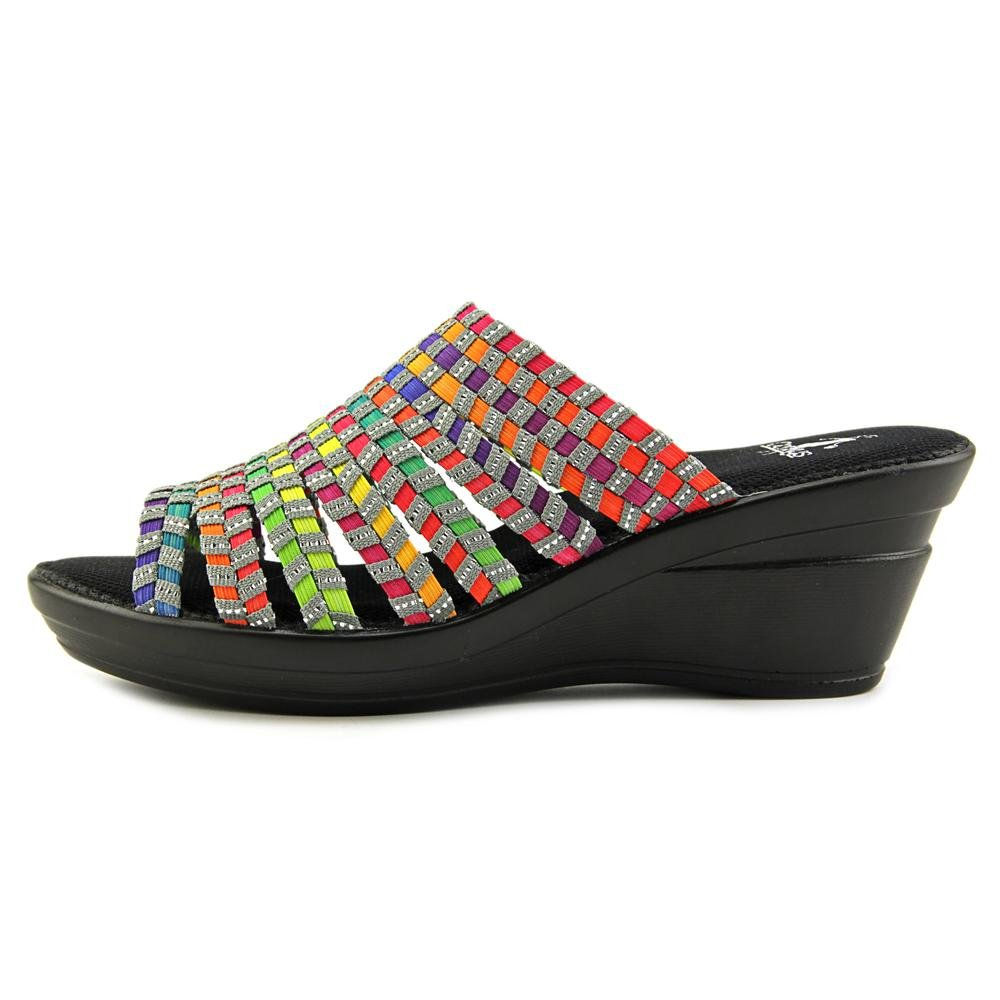 Corkys Ribbon Women Open Toe Synthetic Multi 8 Color Wedge Heel B00U7ZQJP8 8 Multi B(M) US|Bright Multi 2f4da0