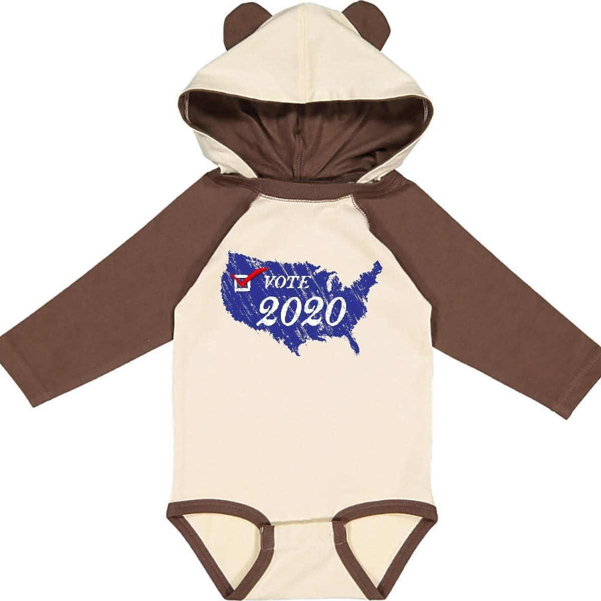 inktastic Vote 2020 Weathered USA Liberal Blue Long Sleeve Creeper
