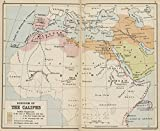 Historic Map | 1913 Kingdom of the Caliphs | Antique Vintage Reproduction