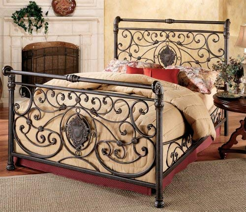 Hillsdale Furniture 1039BCKR Mercer Bed Set with with Rails, California King, Antique Brown