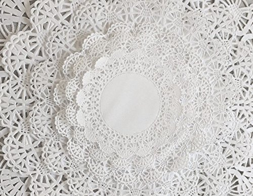 Variety Pack 120 pc. White Paper Lace Doilies 4-12 inch Assorted Sizes