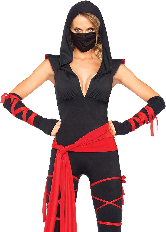 Women//Girls Ninja Cosplay Jumpsuit Warrior Halloween Costume Fancy Dress nhg