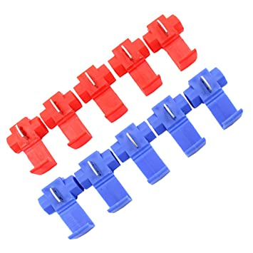 NF&E Segolike 10 Pieces Wiring Clip Splice Wire Cable Connector Scotch on harley handlebar wire clips, wire rope clips, types wire clips, plastic clips, latching wire clips, framing clips, insulation clips, conduit clips, automotive clips, spring clip,