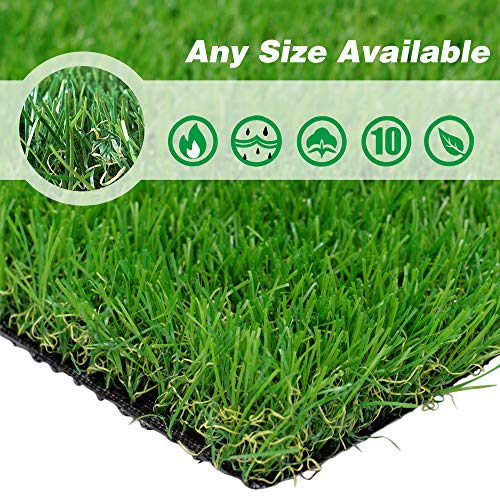 Cactus Saguaro (PET GROW Realistic Artificial Grass Turf -5FTX10FT(50 Square FT) Indoor Outdoor Garden Lawn Landscape Synthetic Grass Mat - Thick Fake Grass Rug)