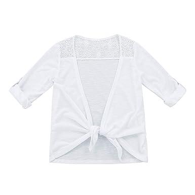 Freebily Cardigan Top Lace Up Elegante para Fiesta Chicas Bolero ...