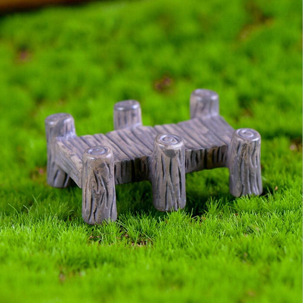 Gugulove 1pc Miniaturas Mini Bridges Fairy Garden Miniatures