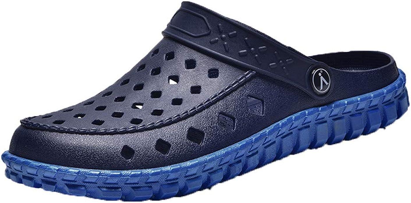 Flipflop Hombre Snekers,YiYLunneo Zapatos De Vadeo Chancletas Al Aire Libre Chanclas De Agujero Sandalias De Playa De Los Hombres Shoes Casual