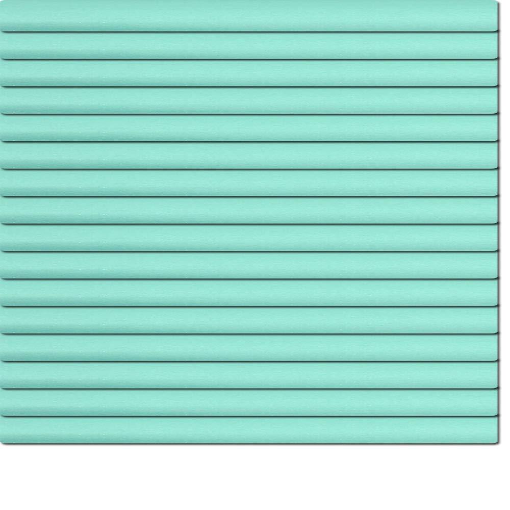 Dekologi Aluminium Jalousie 180 x 150 cm (Breite x Höhe) - Lamellenfarbe 1614 grünblau Chrom  Maßanfertigung Alu Jalousien Jalousette Rollo Plissee