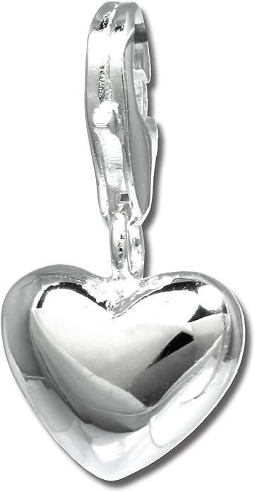 Armband mit Anhänger ZWEI HERZEN Echt 925er.Sterling Silber 17,5cm+3cm    BL411