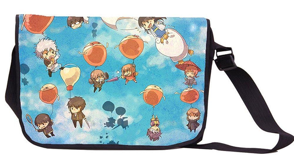 Siawasey GintamaアニメSakata Gintokiコスプレメッセンジャーバッグバックパックショルダーバッグ B00YTQ1UY6