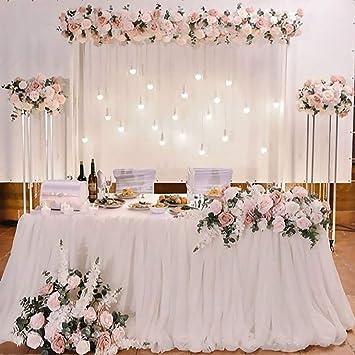 1da0642dc Funpa Falda De Mesa, Table Cover Paño De Tul Tutu Mantel Table ...