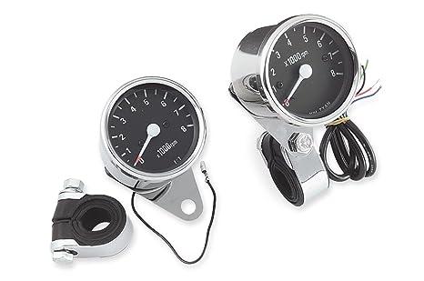 Amazon.com: Biker\'s Choice Mechanical Custom Mini Tachometer: Automotive