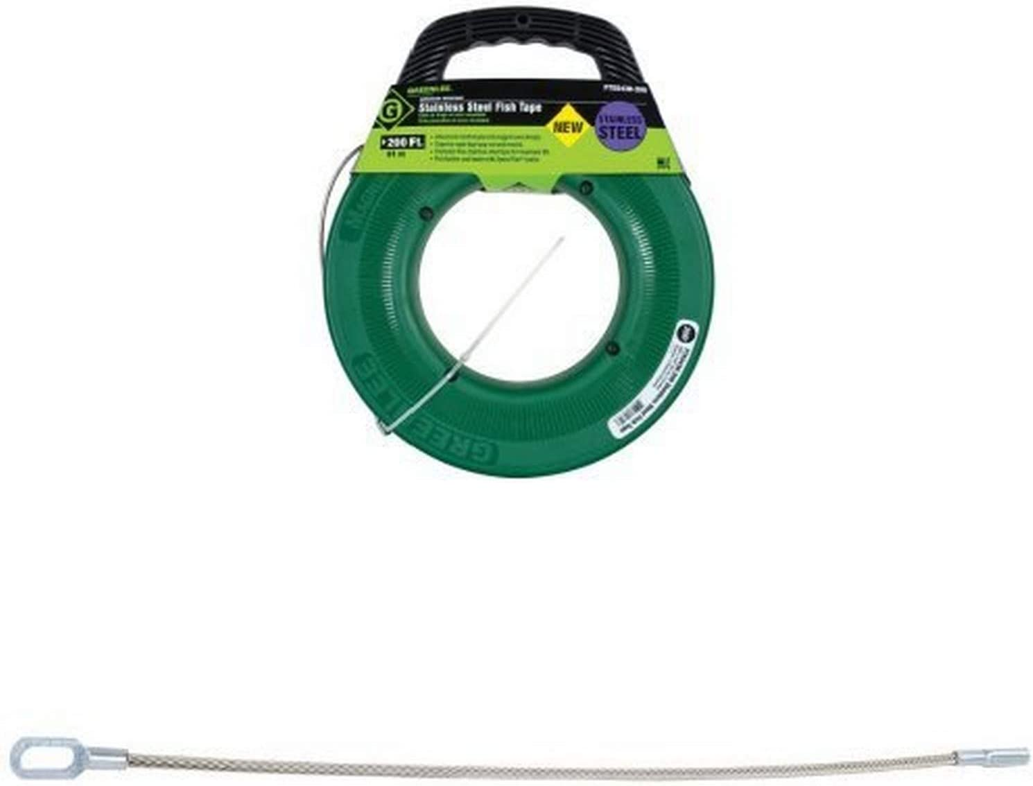 GREENLEE 439-2 Fish Tape Leader,Flexible,1//8 x 12 In,SS