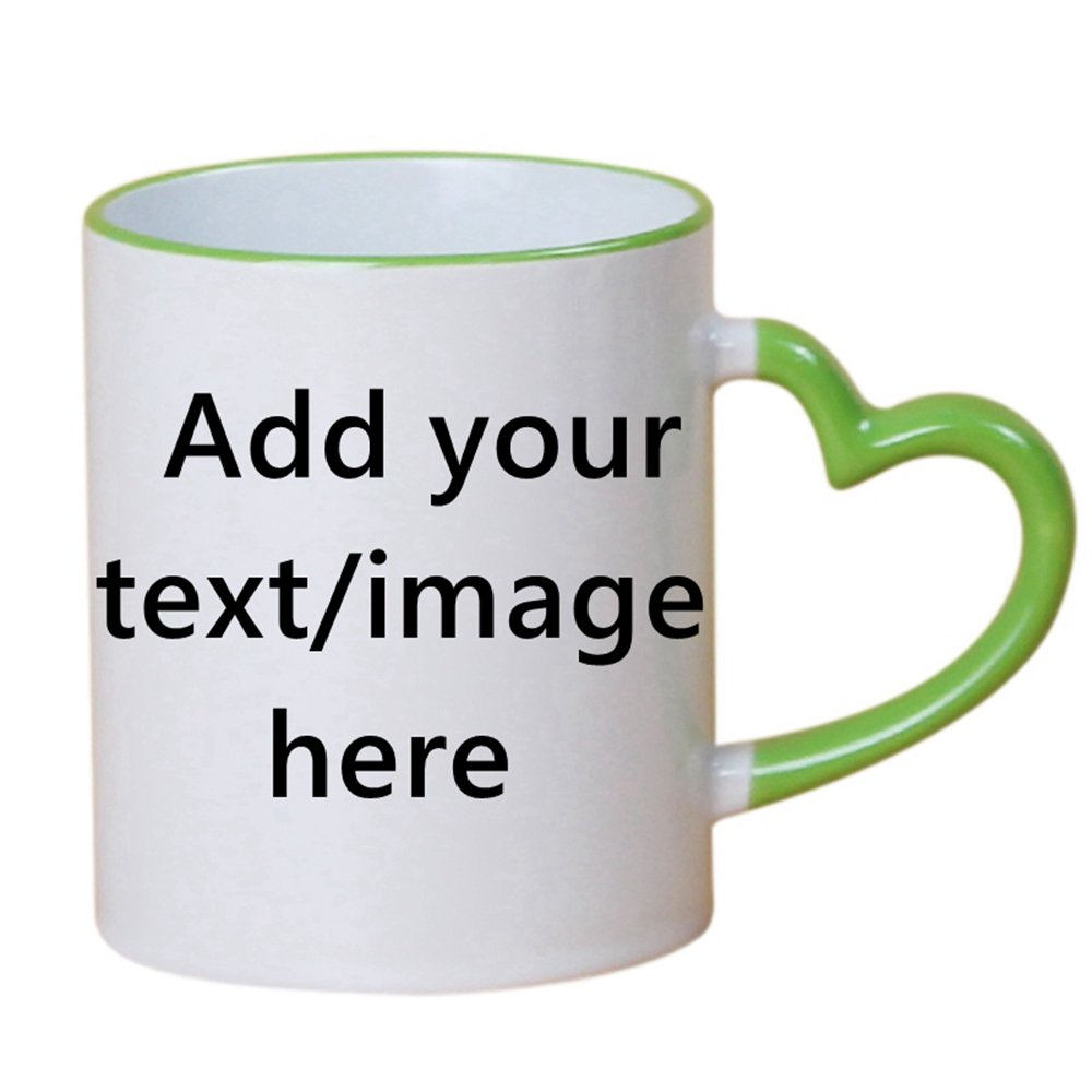 カスタムコーヒーマグカップ – 追加Your Name Text Letters – カスタマイズセラミックカップ – AクリエイティブPresent One Size SWIIIM-2 B07BF8N1PS  1-Green