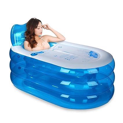 Bañera inflable JIAYIBAO Aislamiento De Espesamiento De PVC Bañera Plegable Para Adultos Bañera De Niños En