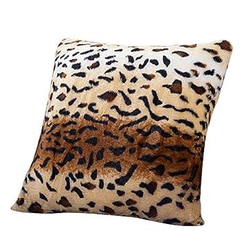 Milopon Funda de Almohada Cojín Leopardo Veludillo Suave ...