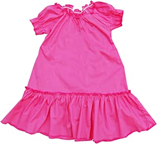 product image for Cheeky Banana Little Girls Solid Color Peasant Dress Lime