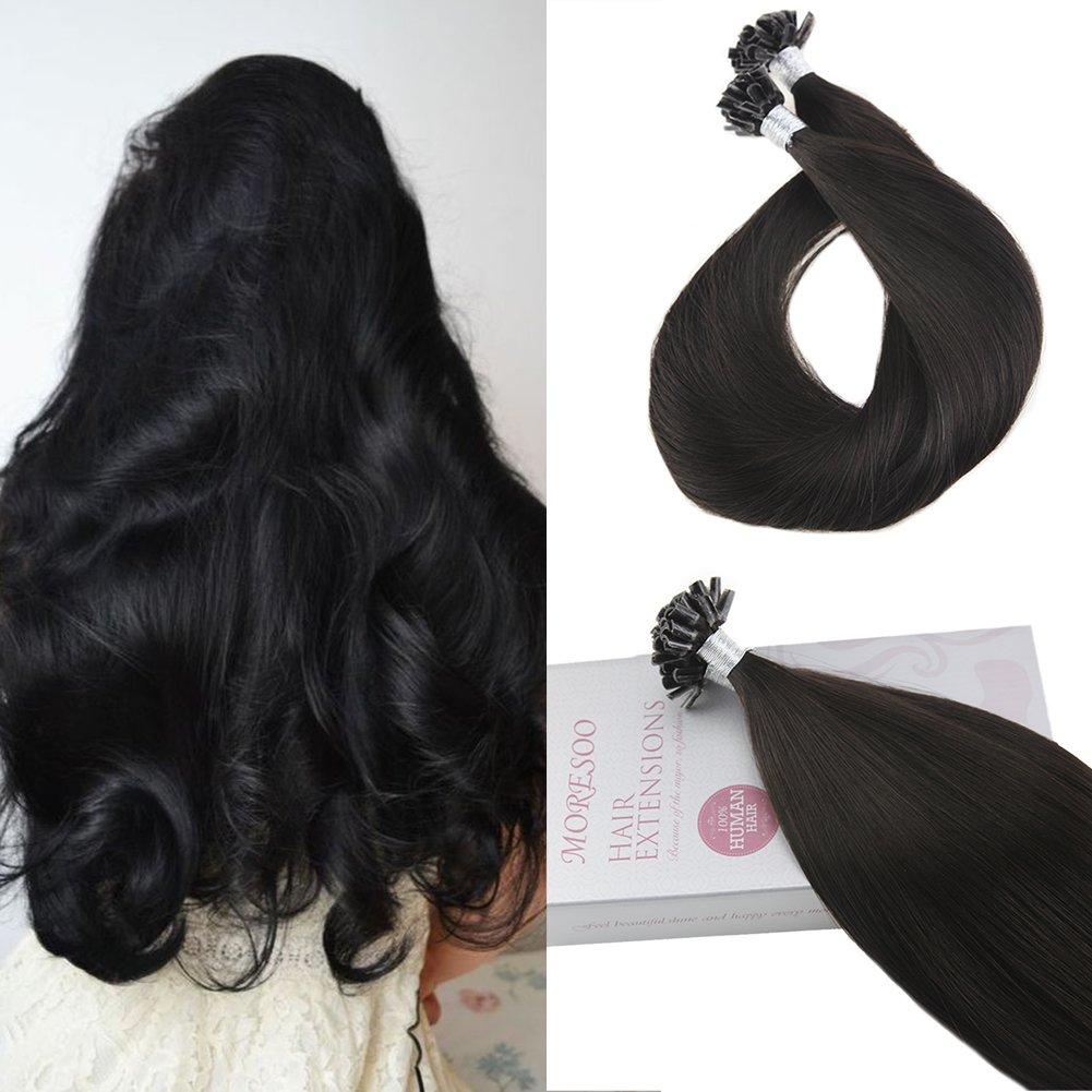 Amazon Moresoo 16 Inch Tipped Extensions Human Hair U Nail