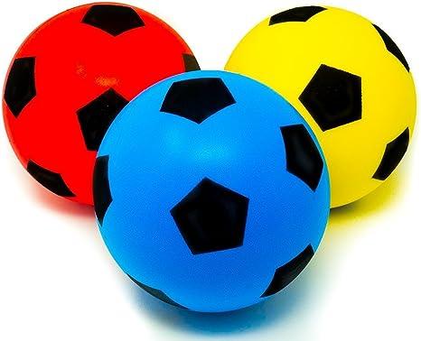 E-Deals - Pack de 3 pelotas de esponja para deportes de interior y ...