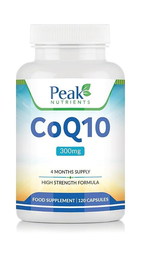 CoQ10 con Fórmula de Alta Concentración, 120 Cápsulas con 300 mg de Coenzima Q10 de