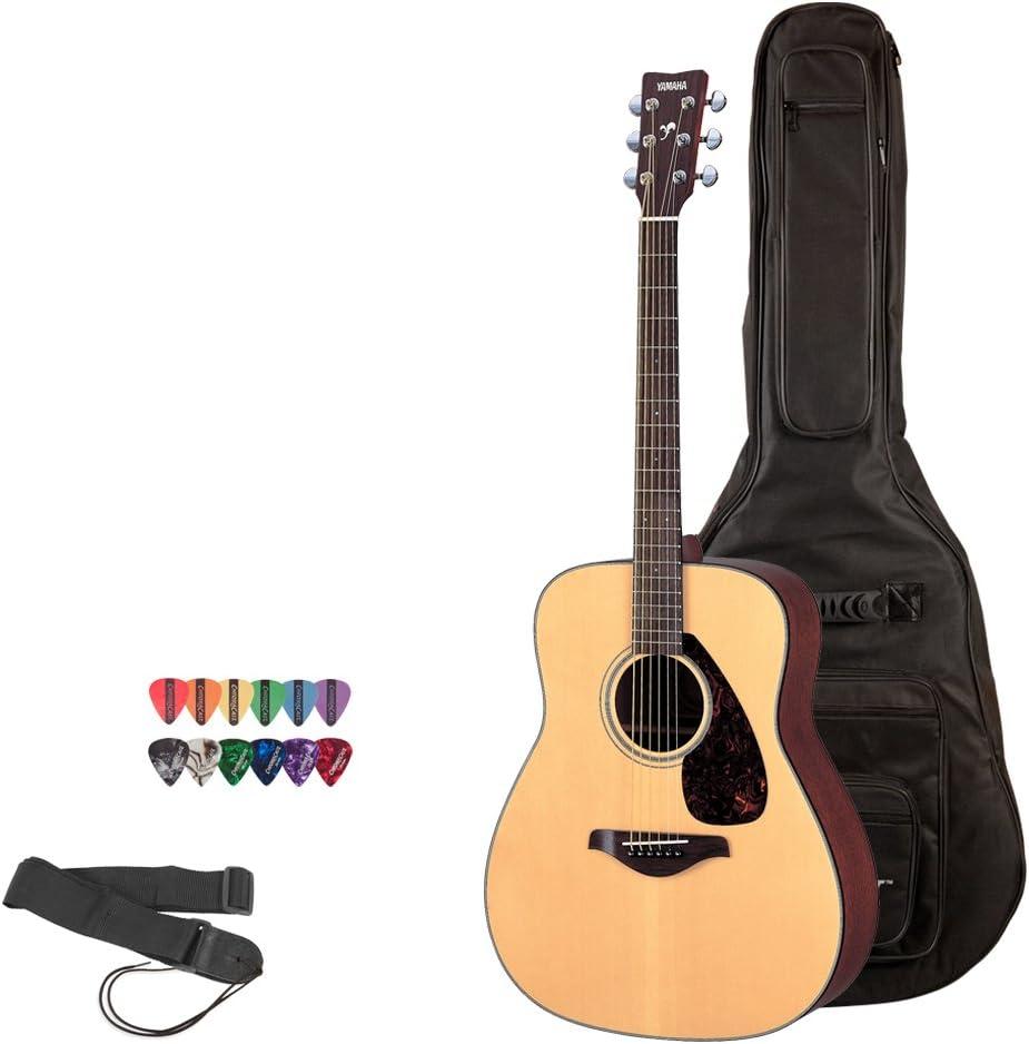 Yamaha FS800 N Guitarra acústica con paquete de accesorios: Amazon ...